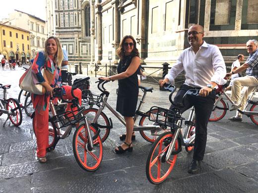 Bike sharing, arrivano a Firenze le biciclette verdi di Gobee