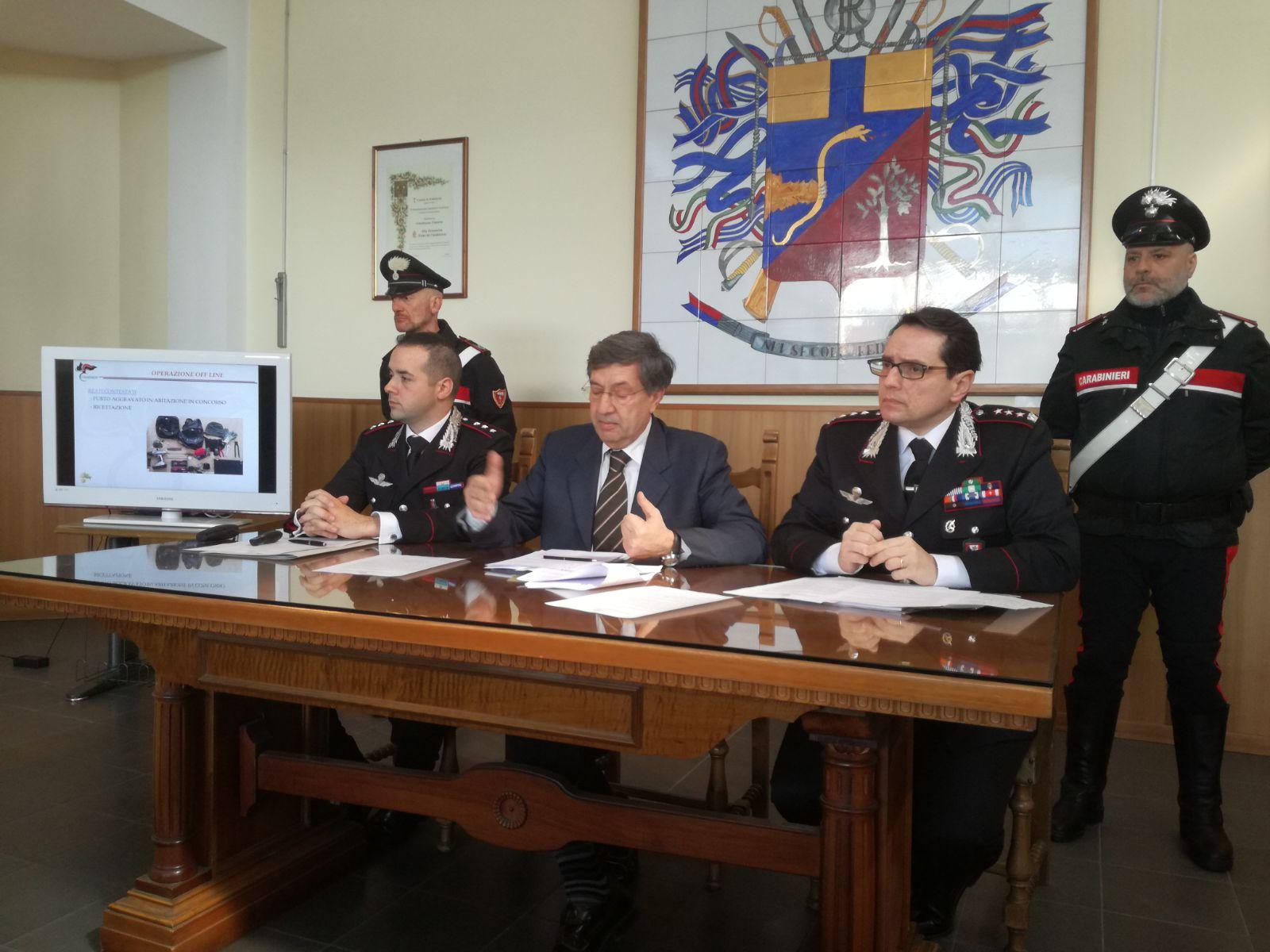 66 furti in abitazioni scoperti dai carabinieri della Compagnia di Siena