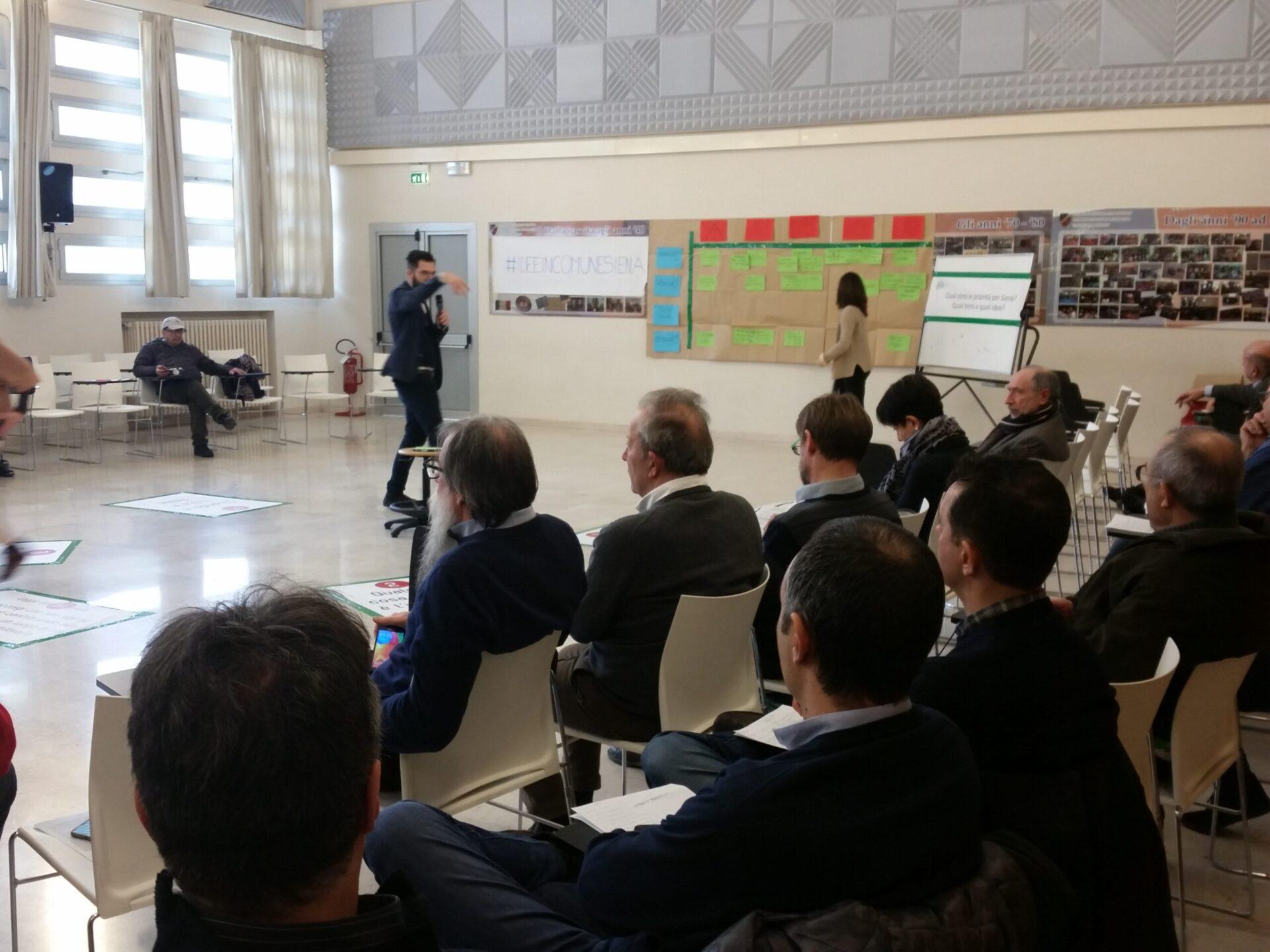 """Siena, in campo primarie di partito, veti tra partiti e la """"Piazza delle Idee"""", metodo civico per scegliere priorità"""