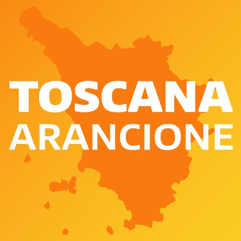 Tutta la Toscana sarà in zona arancione anche la prossima settimana