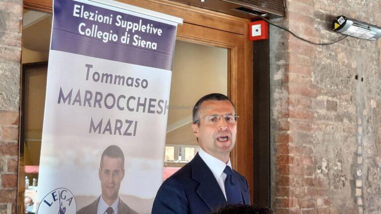 Elezioni suppletive a Siena, Marrocchesi Marzi si presenta: «Abbattiamo il muro rosso di gomma». E su Letta: «Derby Pisa-Siena sarebbe divertente»