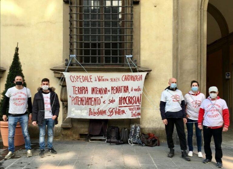 Assistenza cardiologica h24. La protesta si allarga. Volterra e Massa Marittima in catene in Regione Toscana