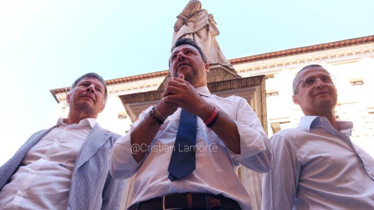 Mps, Salvini: Non accettiamo svendite. Raccolta firme per farne terzo polo bancario. E avverte Letta