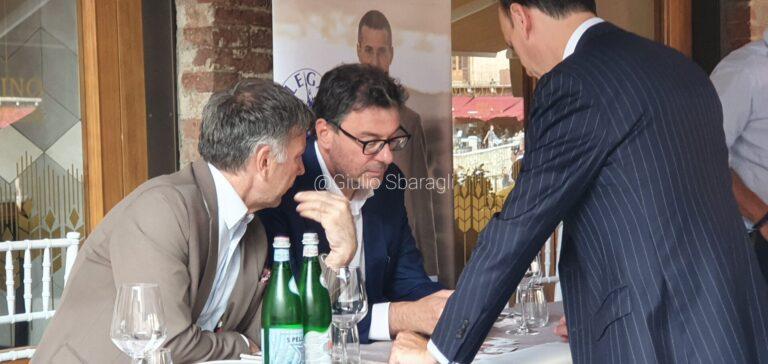 Ministro Giorgetti a Siena: «Investimenti per Tls». E su Mps: «Un bel problema ereditato dal passato»