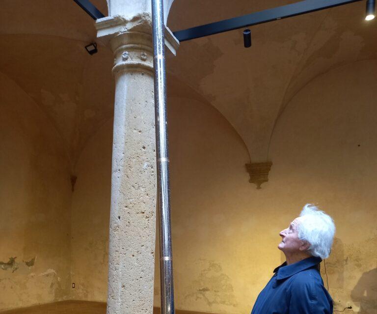 L'opera del maestro Icaro, con Polarità, entra nella pinacoteca di Volterra